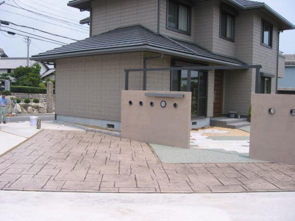 素敵な玄関アプローチ・自慢の庭・デザイン重視の駐車スペースを集めた工事実例
