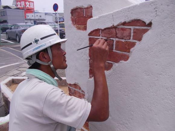 工事現場の進み具合い