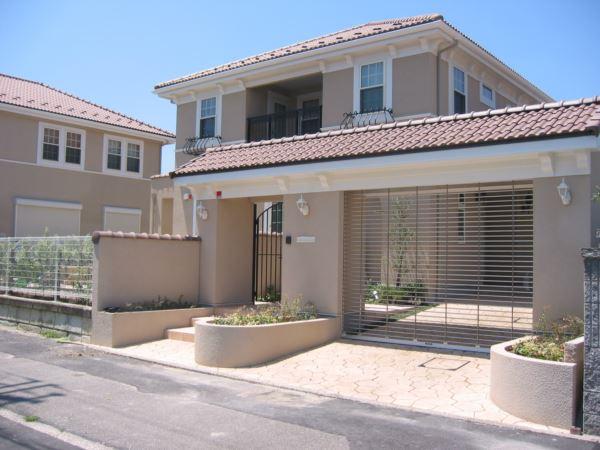 洋風住宅での施工事例