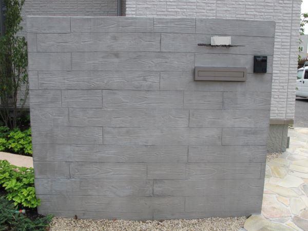 塗り壁工事、セメント板張り風、木目調の施工事例