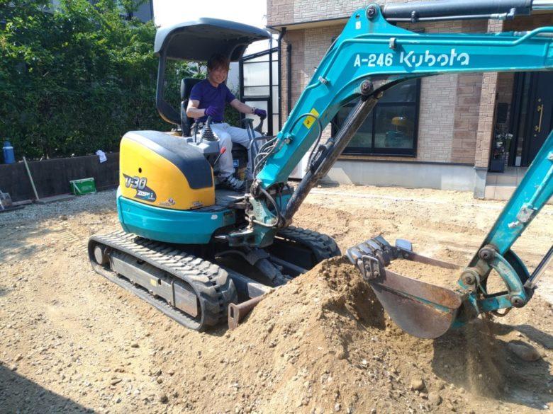 弊社の外構・土木工事を手伝って頂ける方を募集、伊賀市・名張市方面の協力業者様募集しております