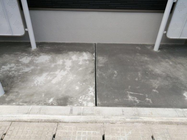土間コンクリート仕上げ、表面の変色、色ムラ・黒ずみ・紋々・斑点・まだら・シミの原因について教えて下さい