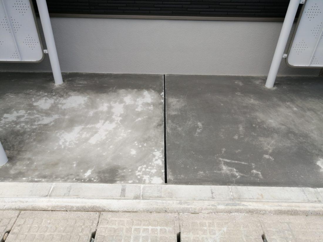 コンクリート 色ムラ シミ