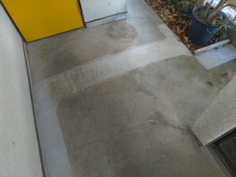 継ぎ接ぎの土間コンクリートを綺麗におしゃれにした施工事例