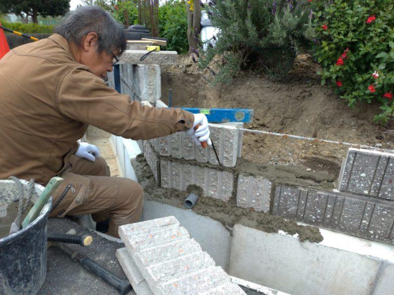 物損事故によるブロック塀の修理修繕、復旧工事での施工事例