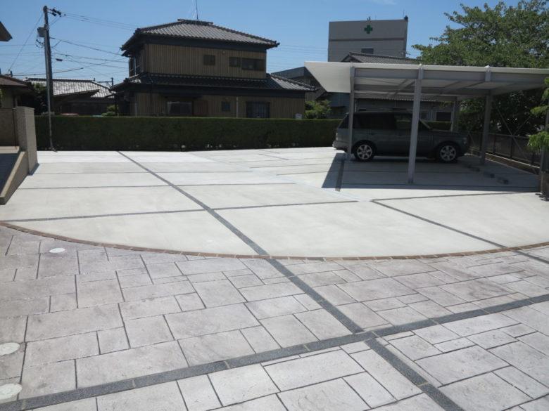 お庭のコンクリート工事が完成するまでのプロセス