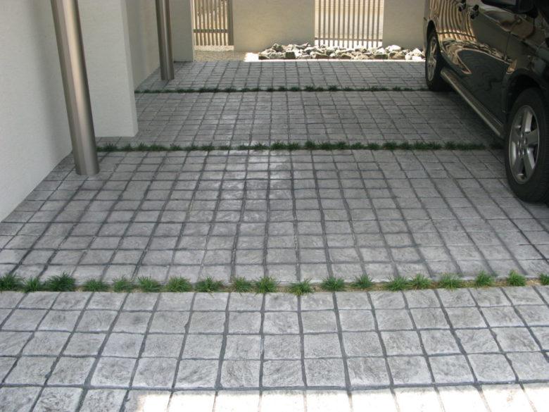 カッコいいと思って頂ける、玄関・駐車場のコンクリート施工事例