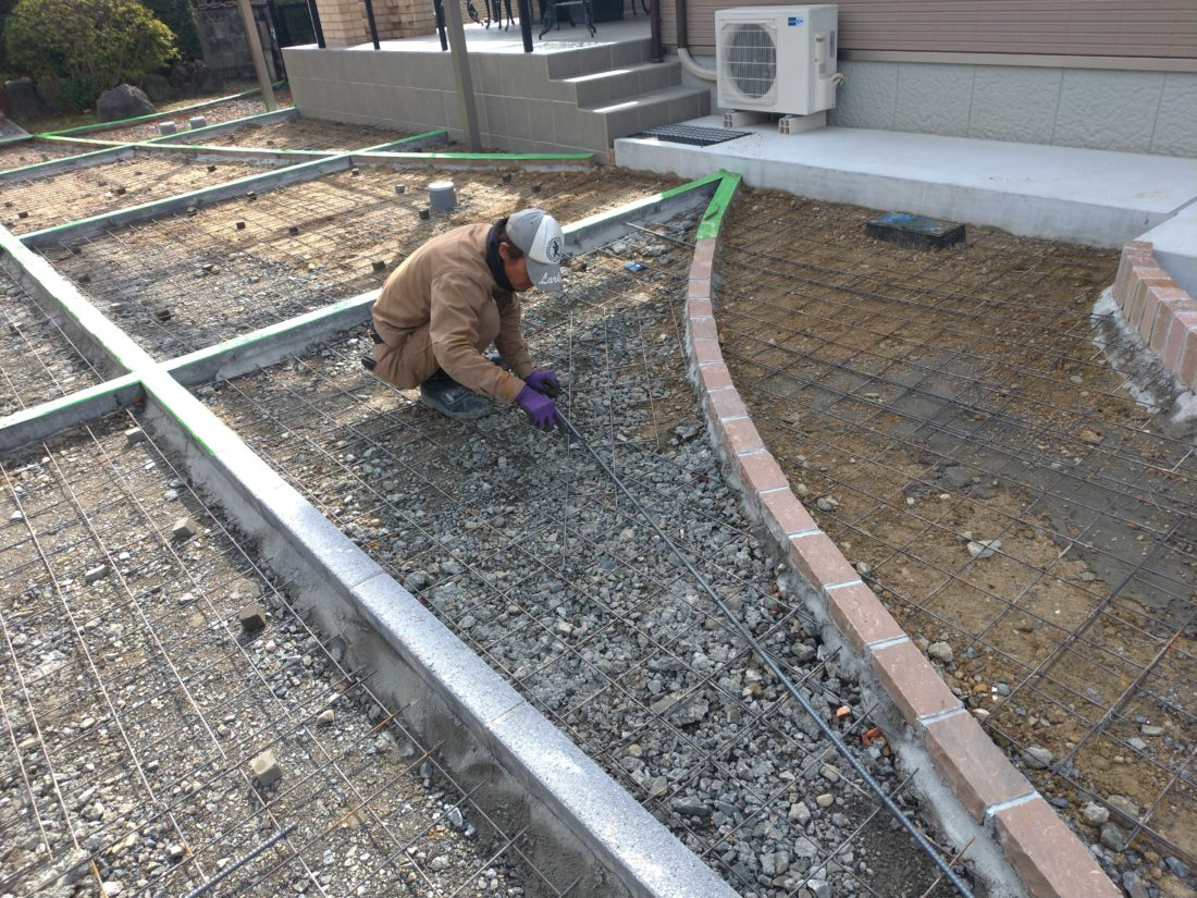 外構工事 土間コンクリート工事